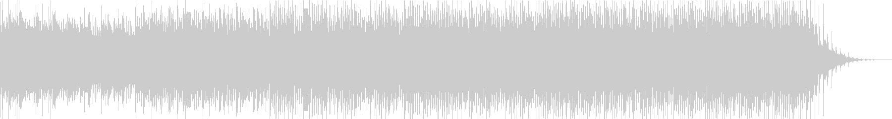 緊迫感のあるピアノエレクトロサウンドの未再生の波形