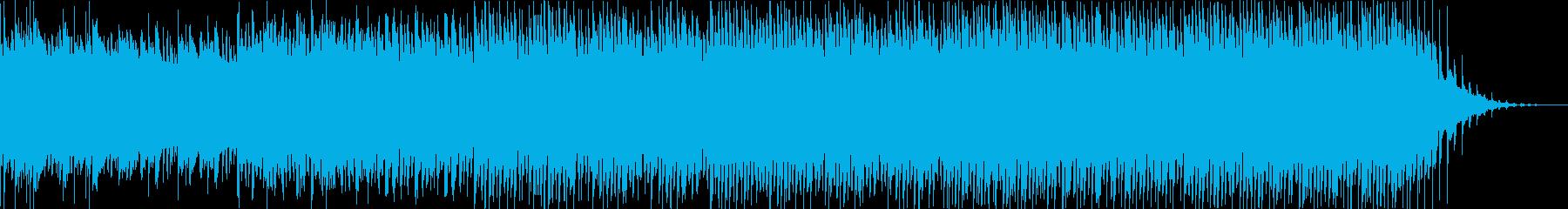 緊迫感のあるピアノエレクトロサウンドの再生済みの波形