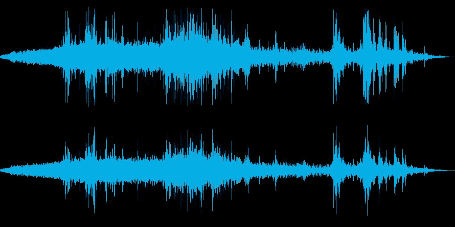 夕立の前触れ(蝉・小鳥・雷)の再生済みの波形