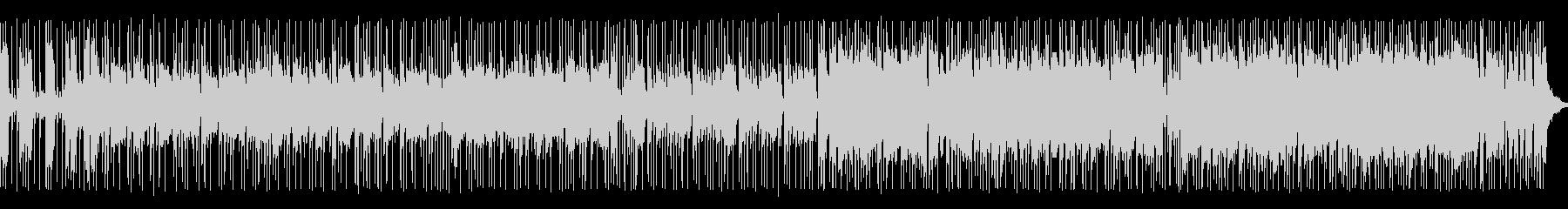 エレキギターメインのアップテンポ BGMの未再生の波形