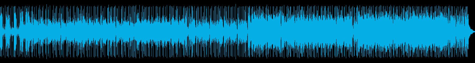 エレキギターメインのアップテンポ BGMの再生済みの波形