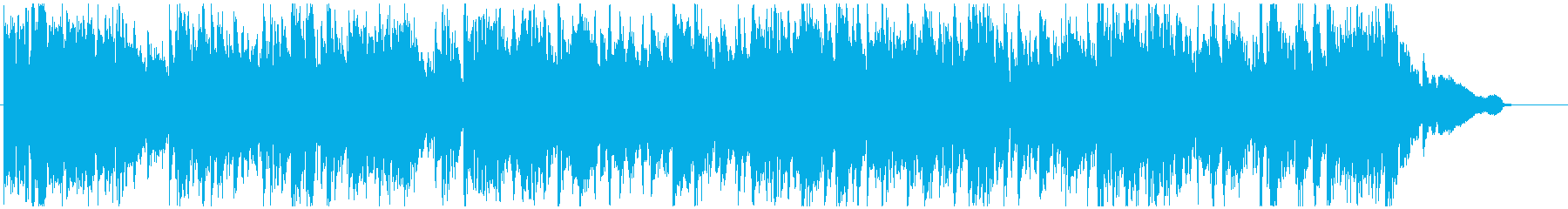 わくわくする高揚感あるジャズ ※60秒版の再生済みの波形