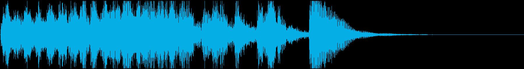 素早いピチカートの楽しげなジングル(1)の再生済みの波形