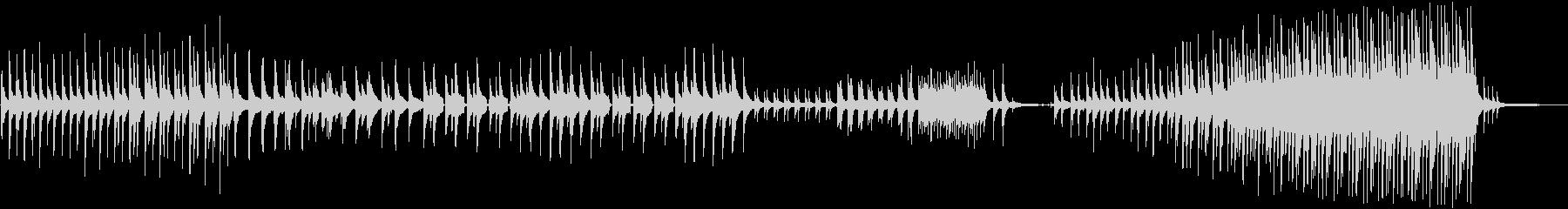 静かに始まり壮大になるピアノ曲の未再生の波形