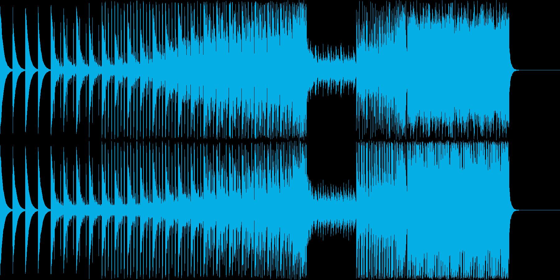四つ打ちEDMの再生済みの波形