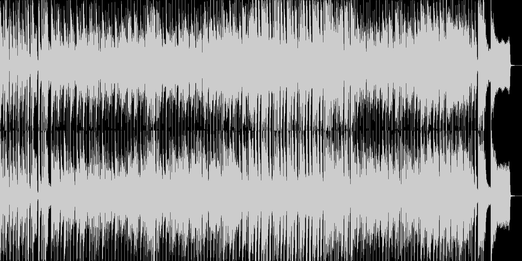 子供の日常をイメージさせるポップな曲の未再生の波形