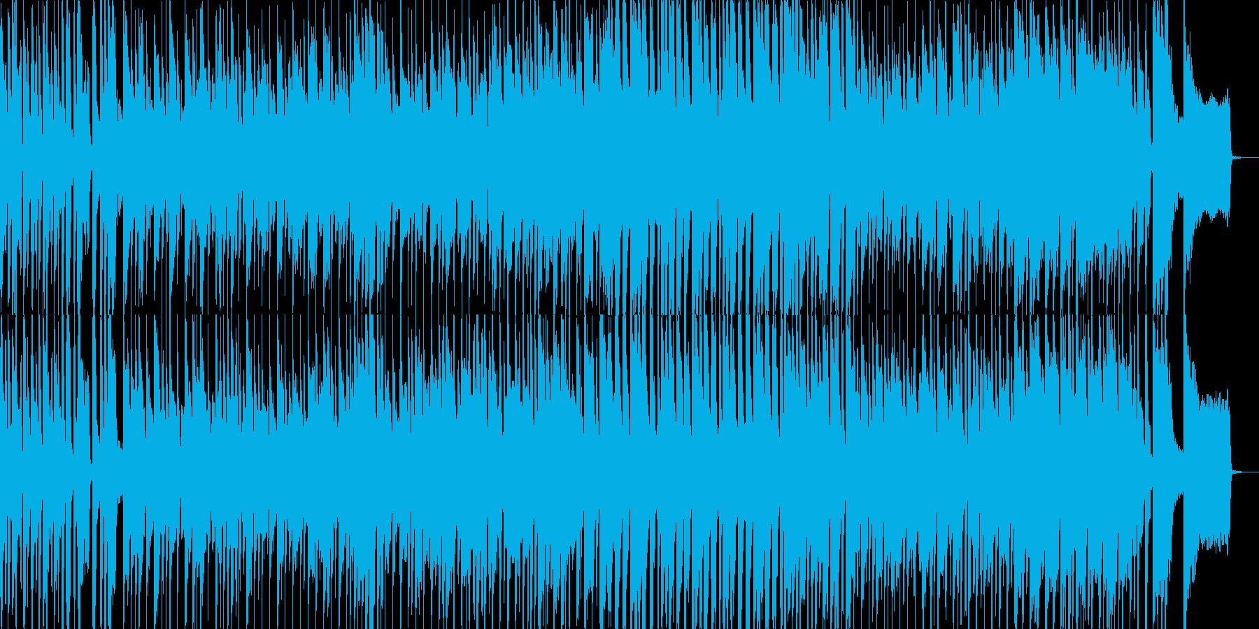 子供の日常をイメージさせるポップな曲の再生済みの波形