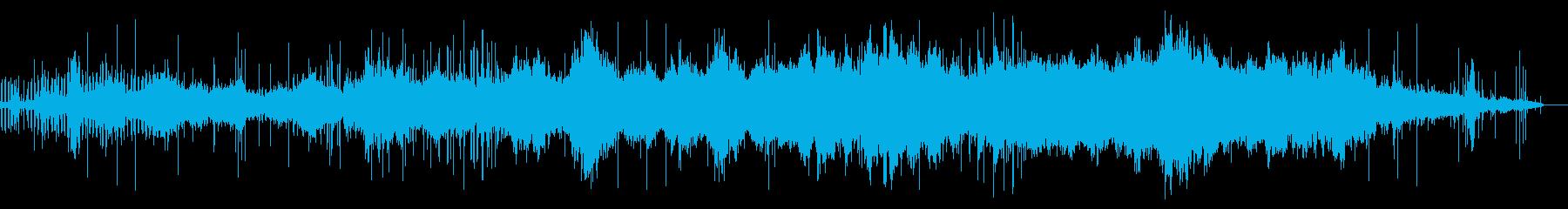 ヨガ、もしくは瞑想のための音楽の再生済みの波形