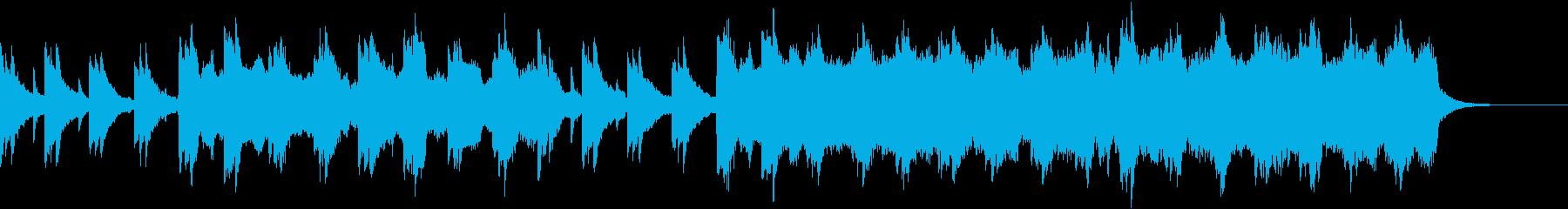 切ないバイオリンとピアノの再生済みの波形