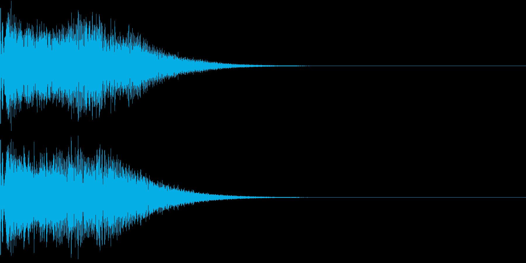 キュイン キーン シャキーン 光る 05の再生済みの波形
