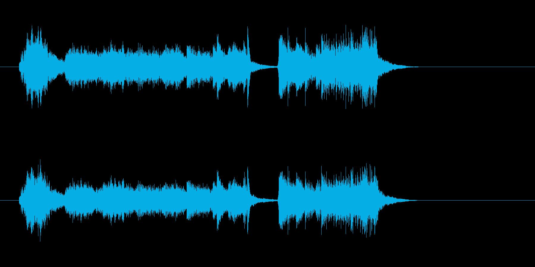 ハープ 美しい ピアノ バイオリンの再生済みの波形