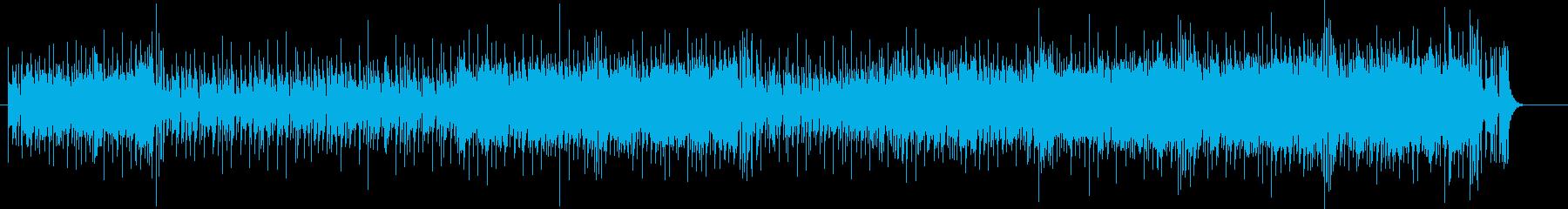 躍動感のあるキーボード・アンサンブルの再生済みの波形