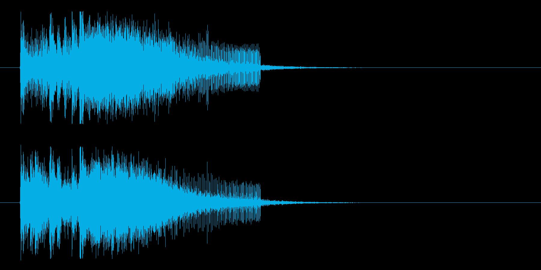 ダーンという軽快で迫力のあるロゴの再生済みの波形
