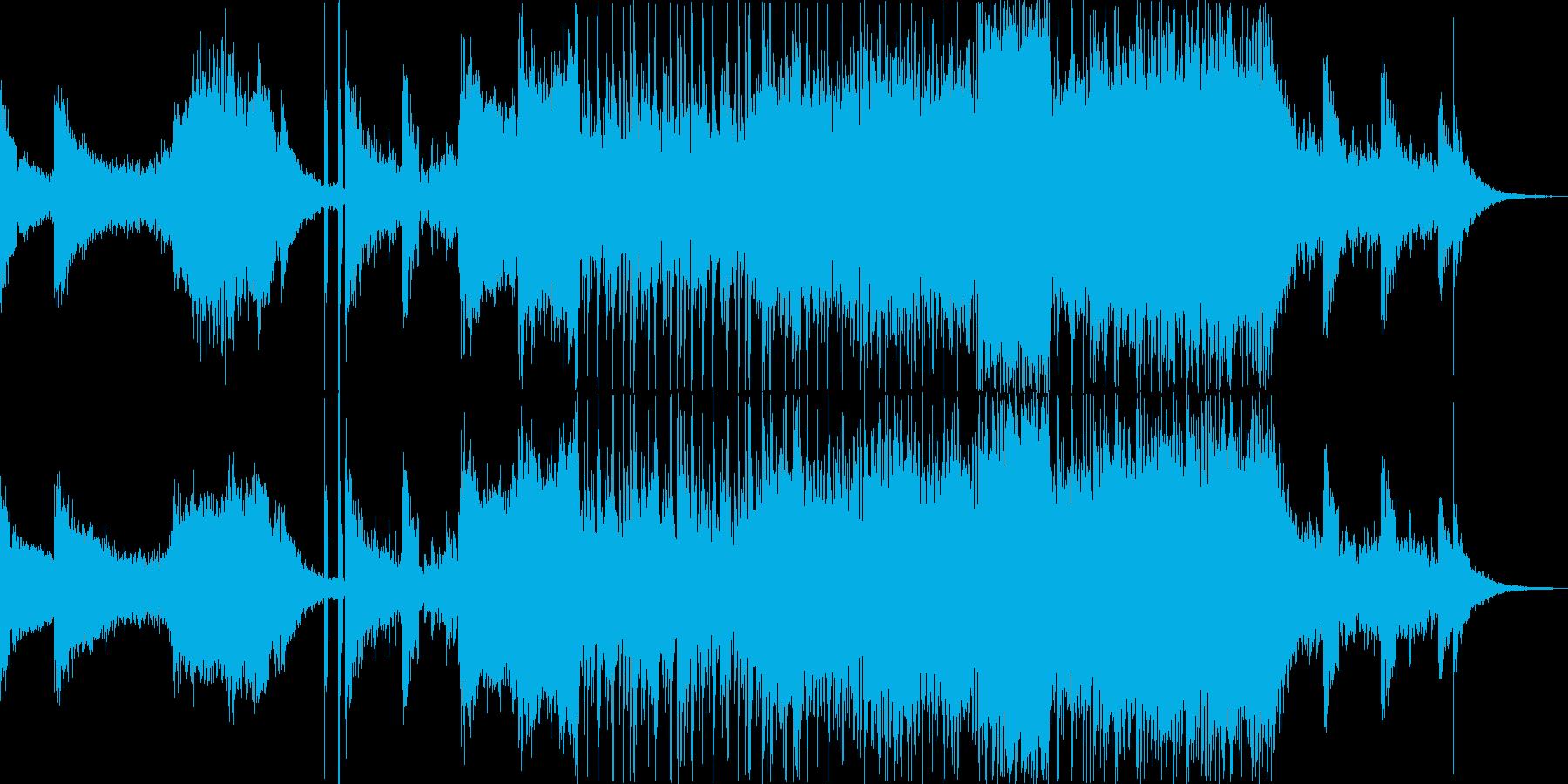時代劇の殺陣のBGMとしての交響曲の再生済みの波形