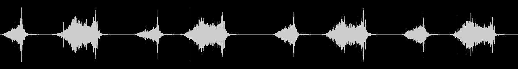 シュコシュコと空気を入れていく音ですの未再生の波形