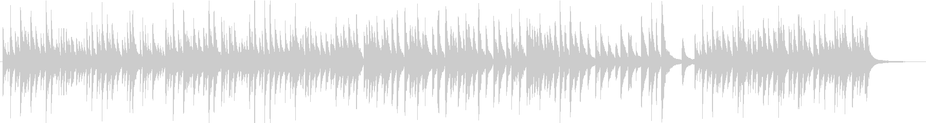 優しく繊細なメロディによるピアノ曲の未再生の波形