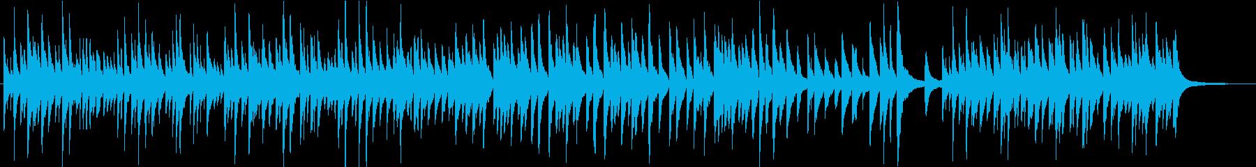優しく繊細なメロディによるピアノ曲の再生済みの波形