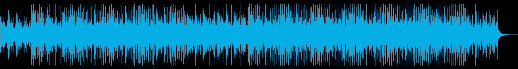 シンセとギターの落ち着いた企業向け解説の再生済みの波形