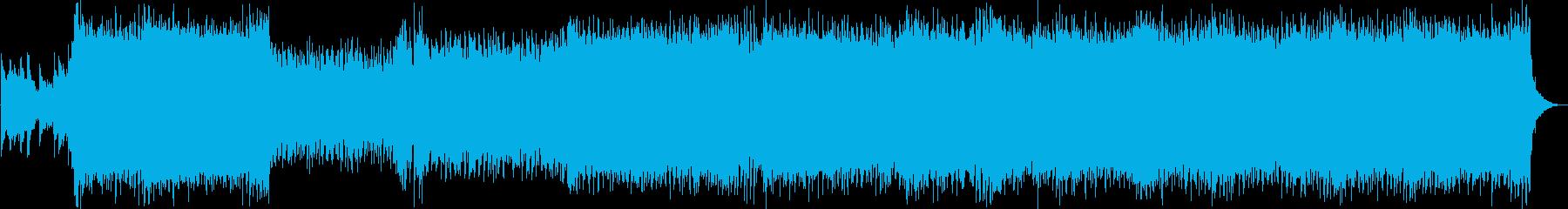 バトルや空を感じる4つ打ちアニソンBGMの再生済みの波形