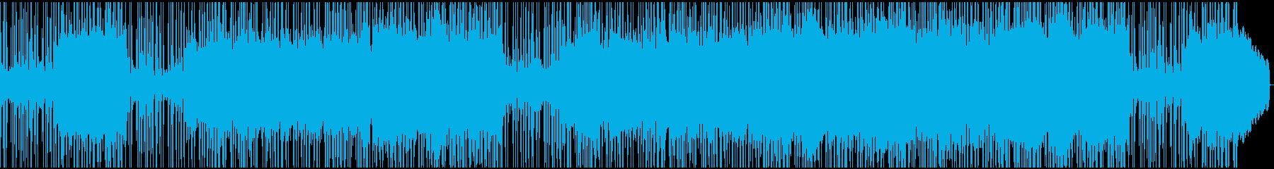 ファンキーなビートの効いたポップスの再生済みの波形