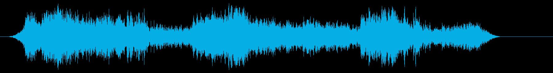 心臓モニター遅い心拍パルスの再生済みの波形