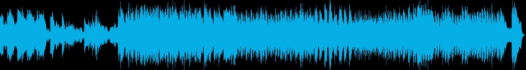 ゆったりしたメロディーのpopsの再生済みの波形