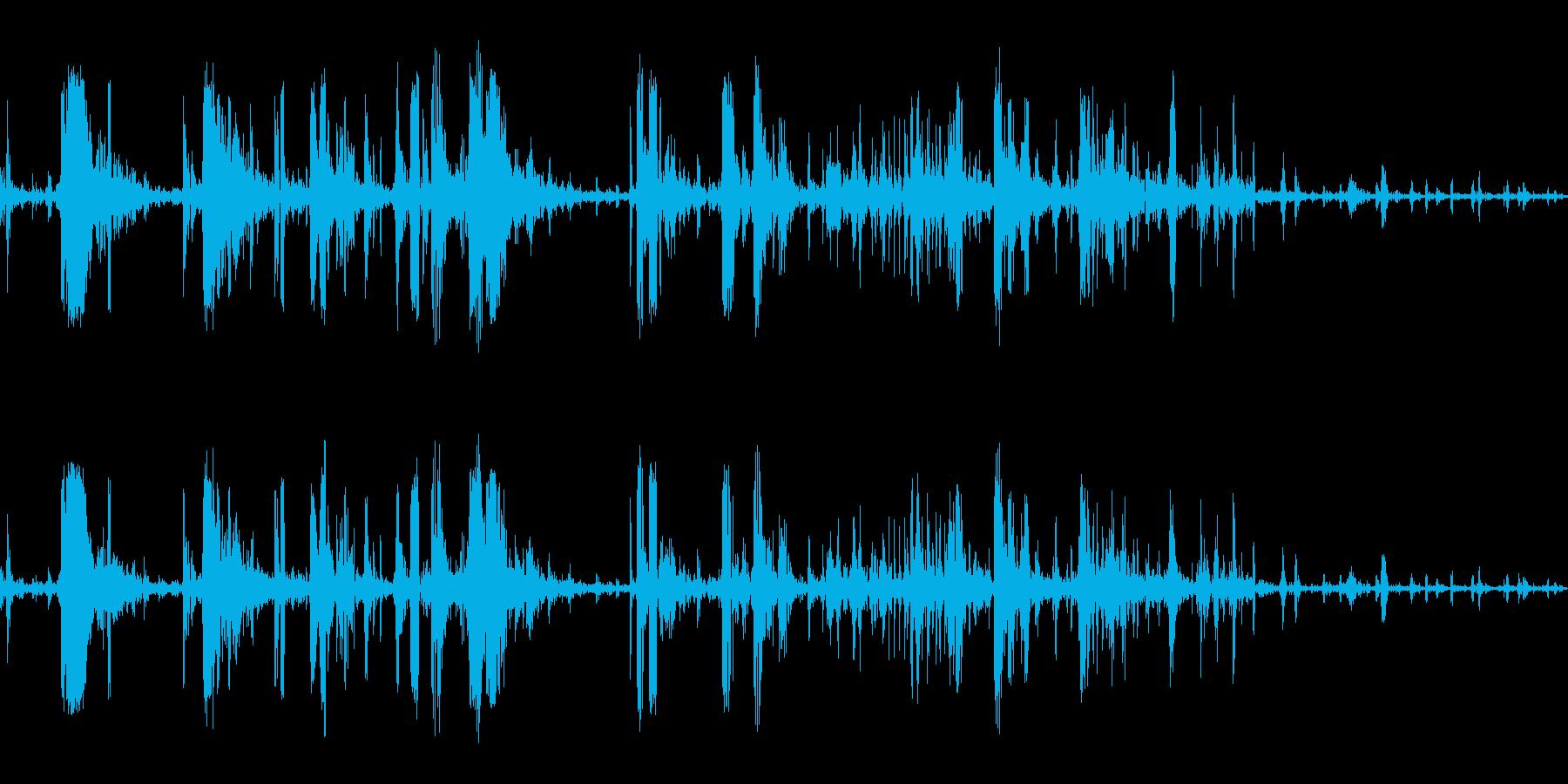 筋肉がきしむ(骨を折る音にも使える)の再生済みの波形