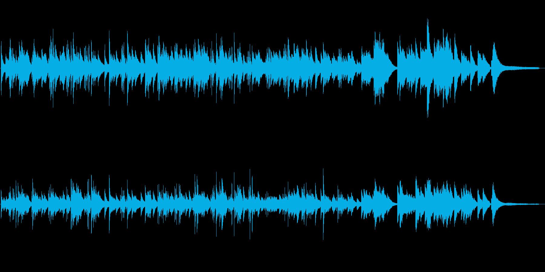 優しい雰囲気のピアノソロ 07の再生済みの波形
