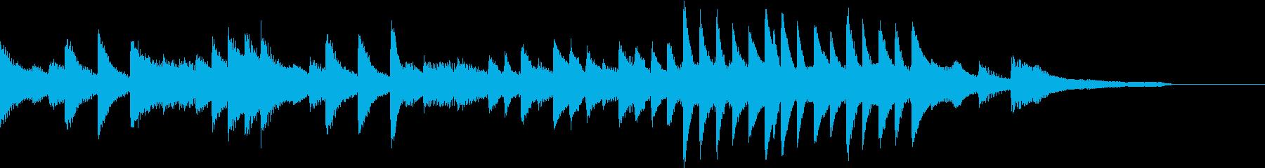 神聖で凛としたジャパニーズピアノジングルの再生済みの波形