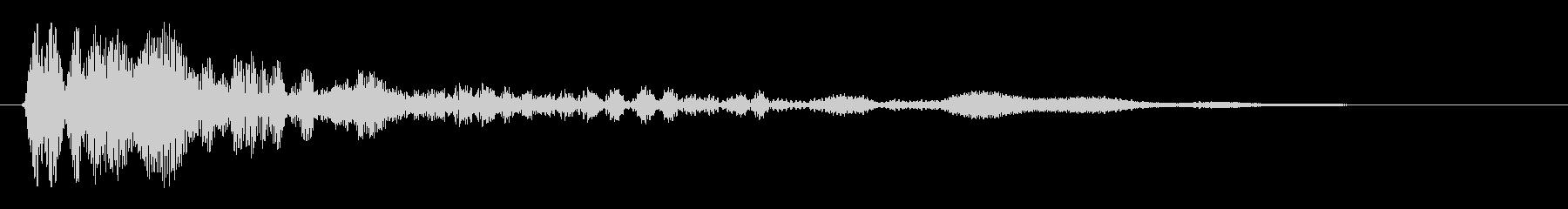クリックの音(シンプル)の未再生の波形