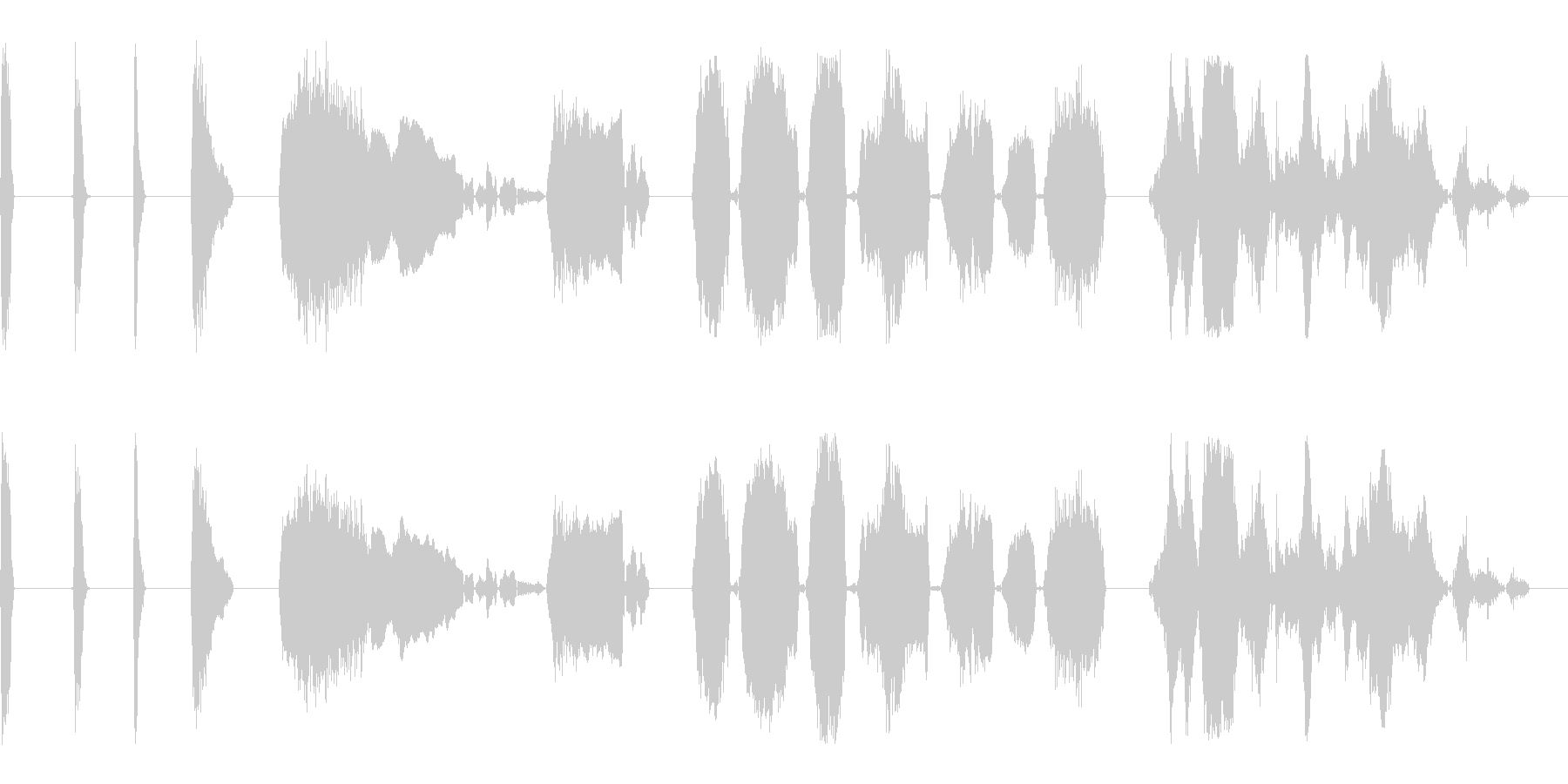 SCREAMS、GROANS、SC...の未再生の波形