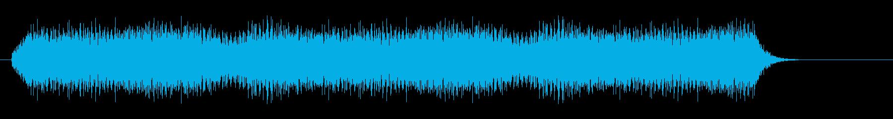 ヘリコプター飛行音【バリバリバリ】の再生済みの波形