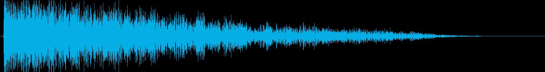 ドーン(巨大な衝撃音A)の再生済みの波形