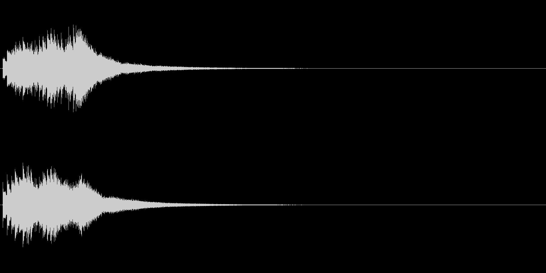 シャララララン(鉄琴を低音から高音へ)の未再生の波形