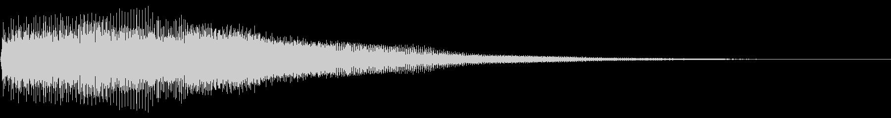 ベーシックな明るいボタン音ですの未再生の波形