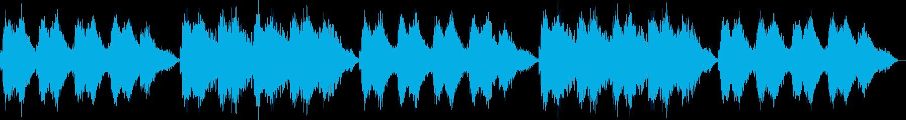 心地よい静けさの電子音による清涼音楽の再生済みの波形