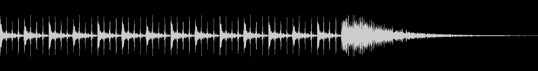 カウントダウン効果音(15秒)の未再生の波形