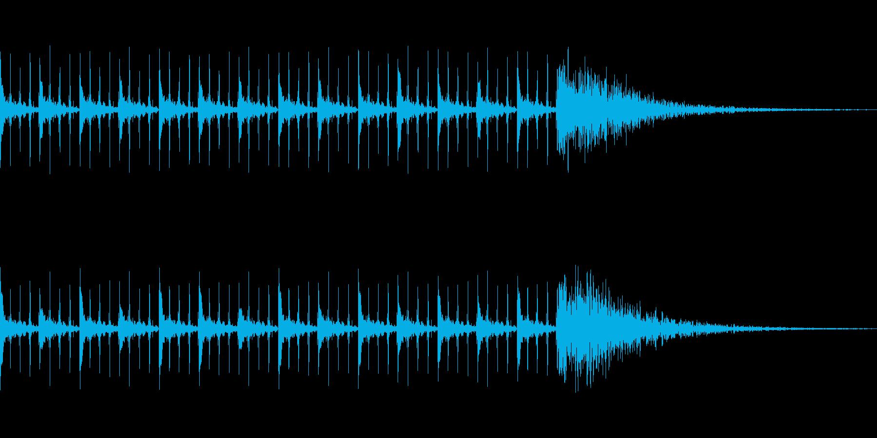 カウントダウン効果音(15秒)の再生済みの波形