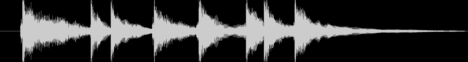 和太鼓と三味線の掛け声のジングルですの未再生の波形