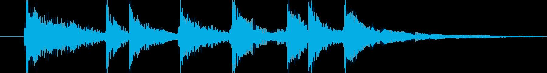 和太鼓と三味線の掛け声のジングルですの再生済みの波形