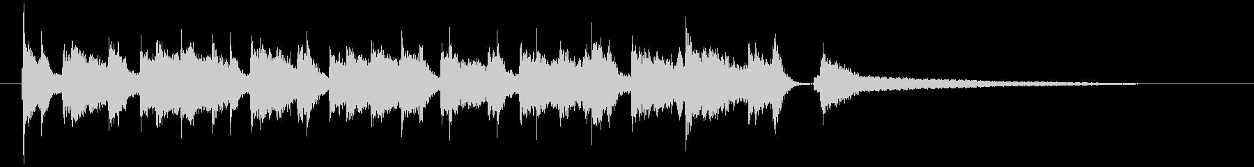 ラジオから流れる『とある日常』ピアノの未再生の波形