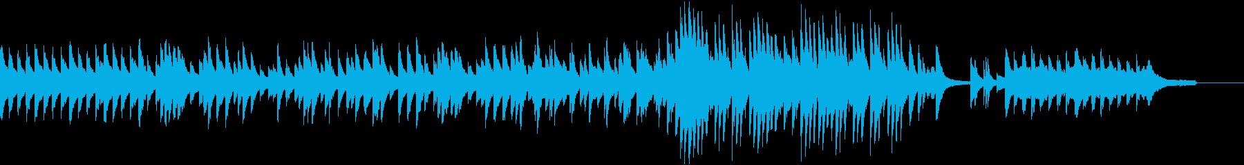 【ショート版】温かく切ない雰囲気のピアノの再生済みの波形