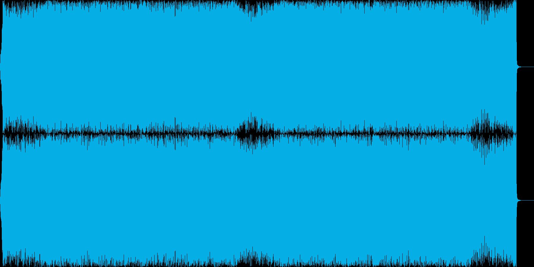 アップテンポでハイテンションなEDMの再生済みの波形