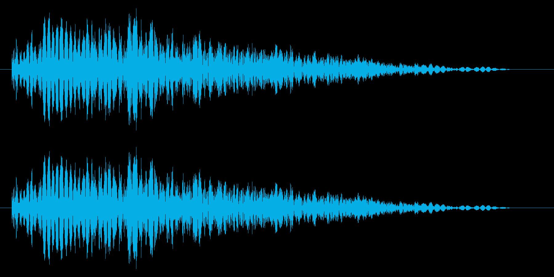 パンチやキックに重い打撃音!03Lの再生済みの波形
