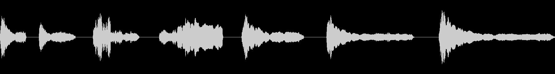 スライドホイッスル、ミッド、ダウン...の未再生の波形