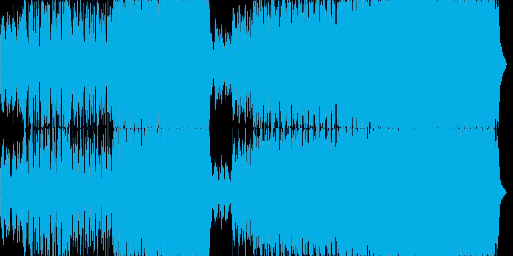 幻想的で浮遊感のあるロックバラードの再生済みの波形