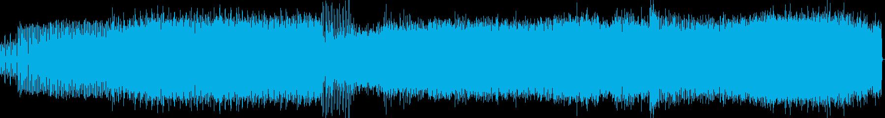 アクションシーン向けのEDMの再生済みの波形