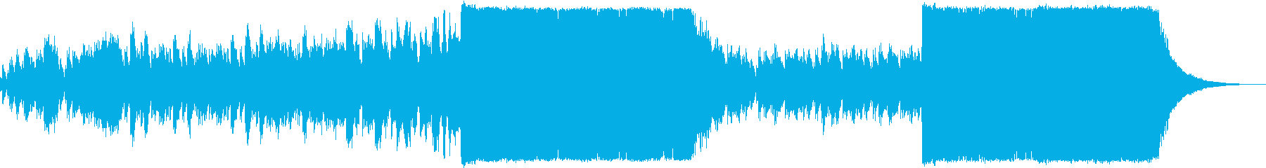 ピアノ+ノイズのバラードの再生済みの波形