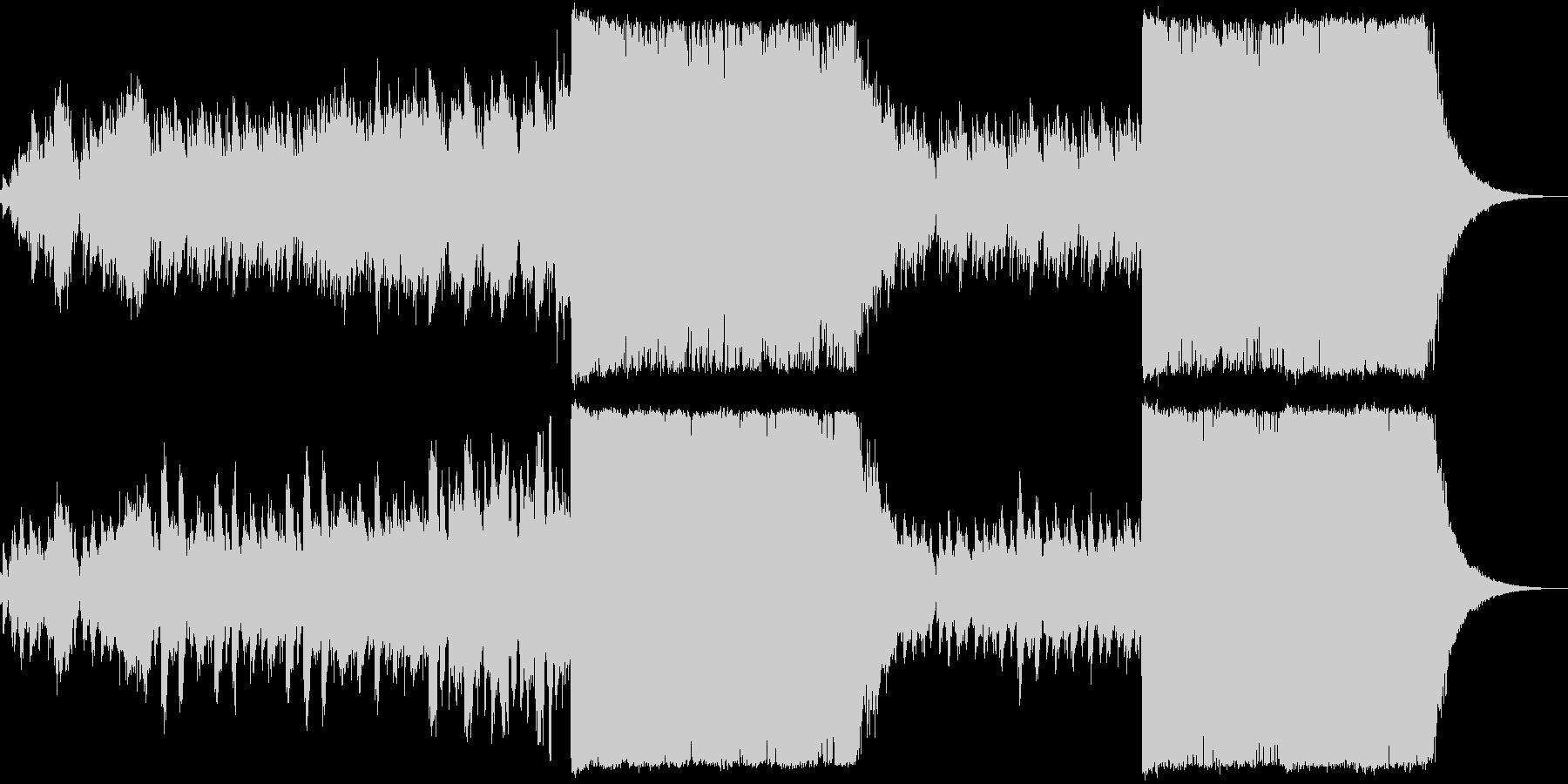 ピアノ+ノイズのバラードの未再生の波形