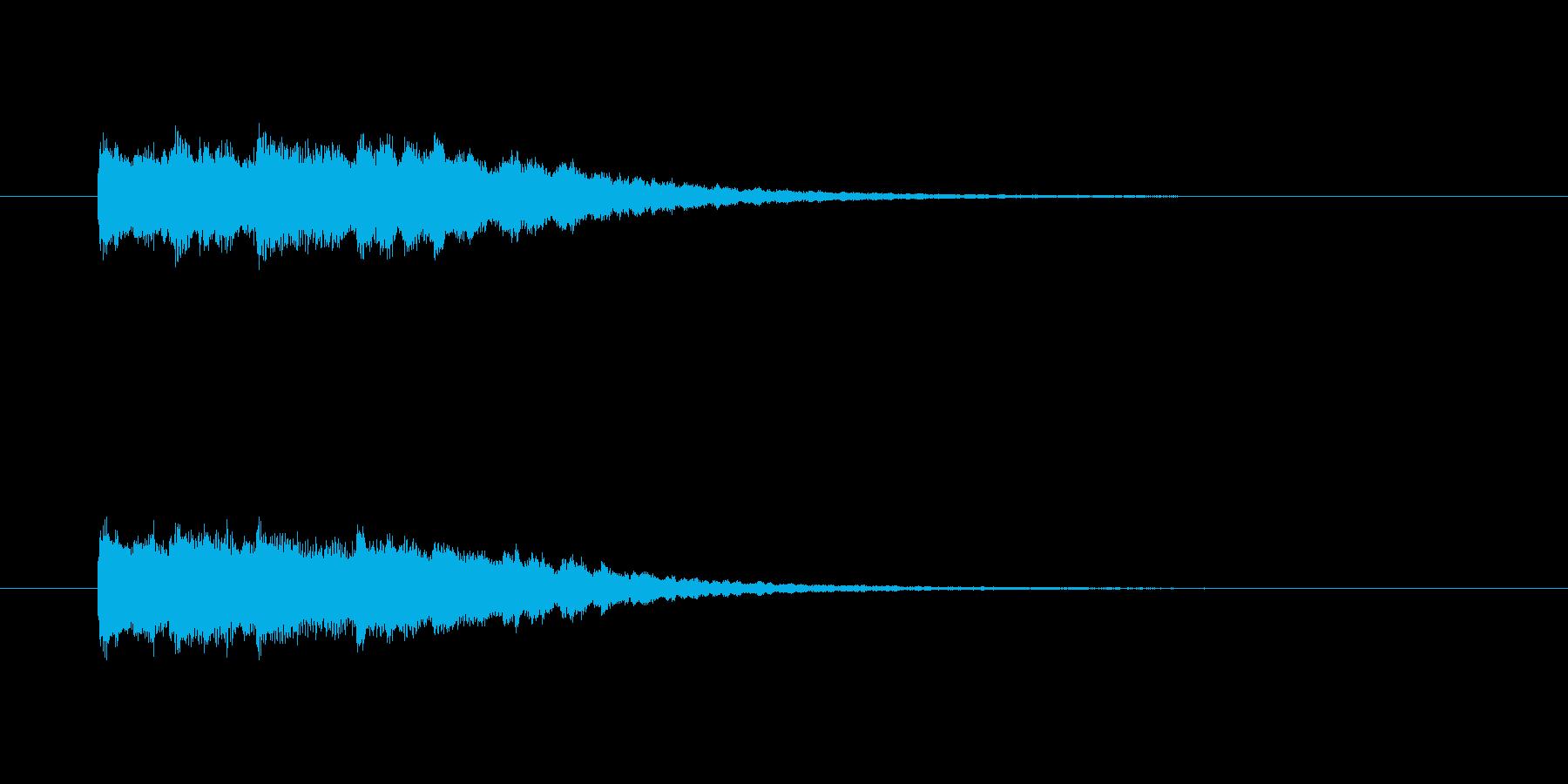 フォンファン(透明感のある音、起動音)の再生済みの波形